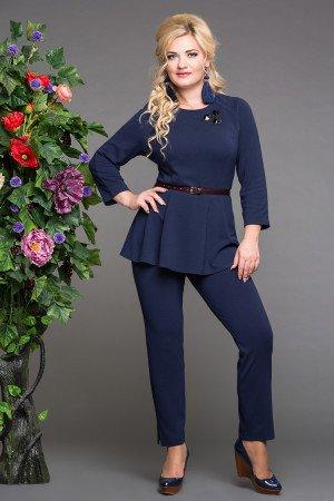 блуза дива синий+брюки