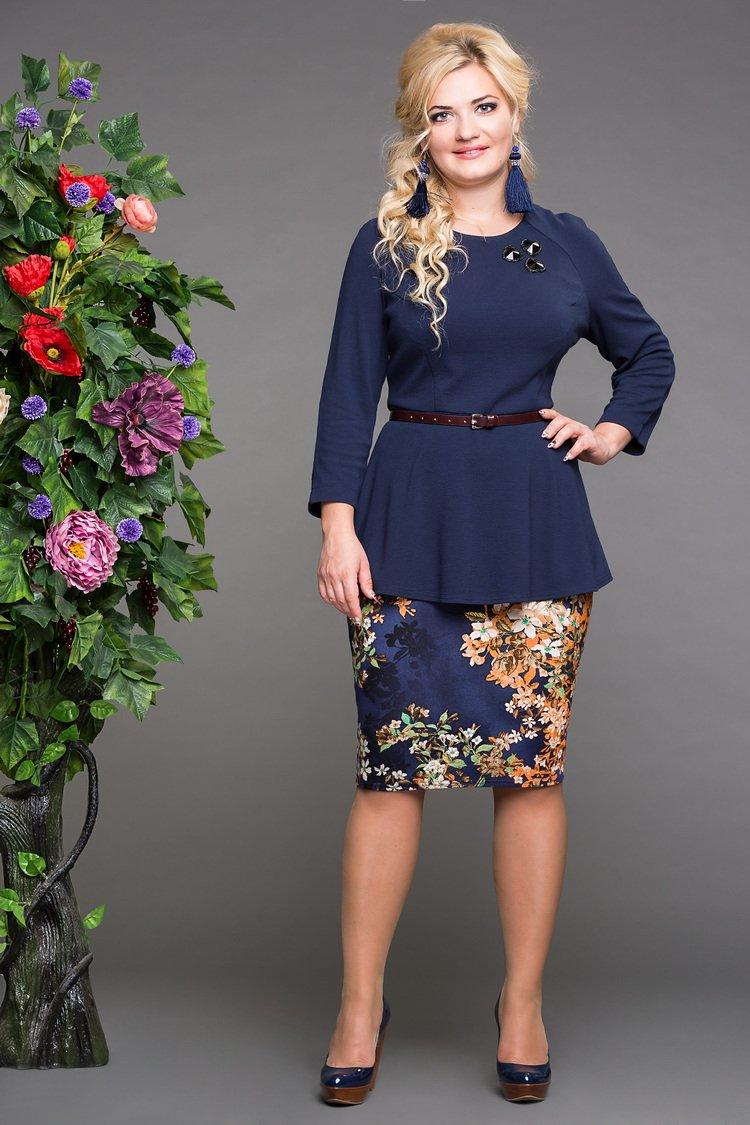 блуза дива синий+юбка