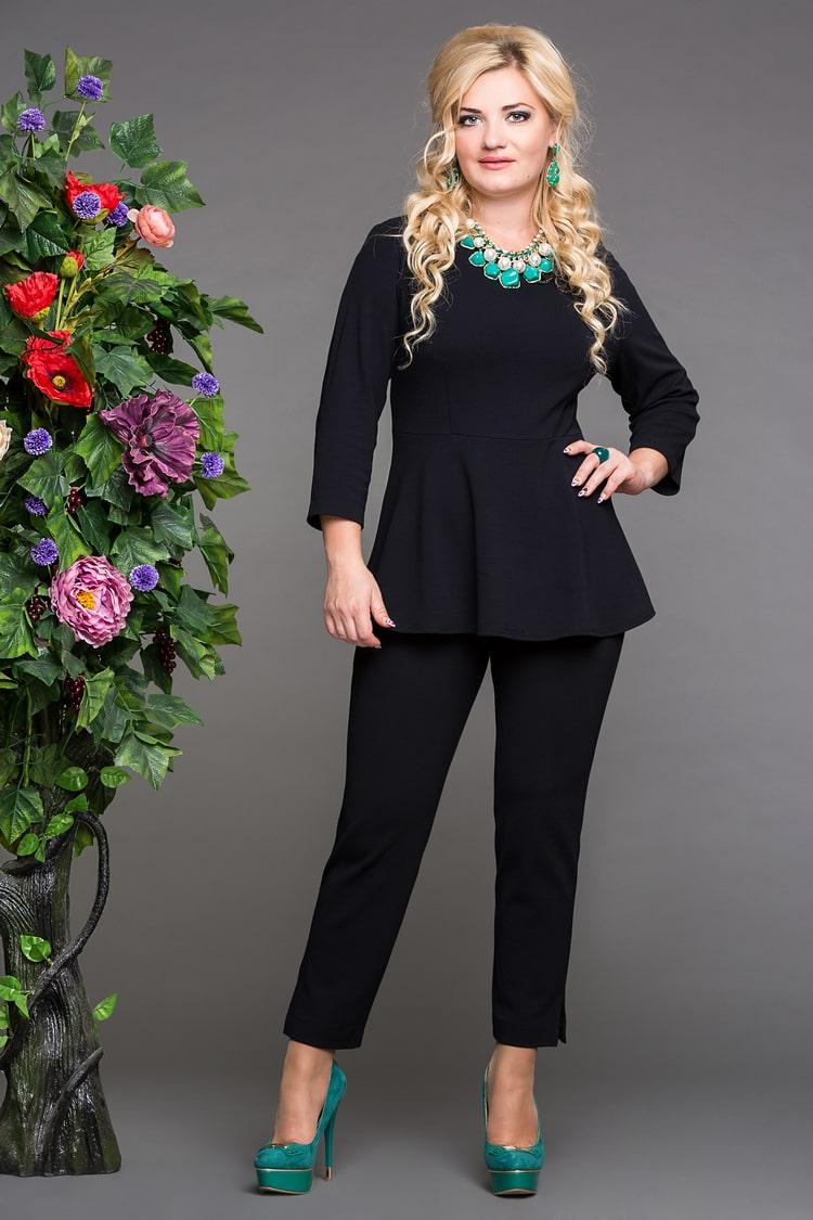 блуза дива черный+ брюки