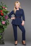 Блуза-дива-синий-брюки-