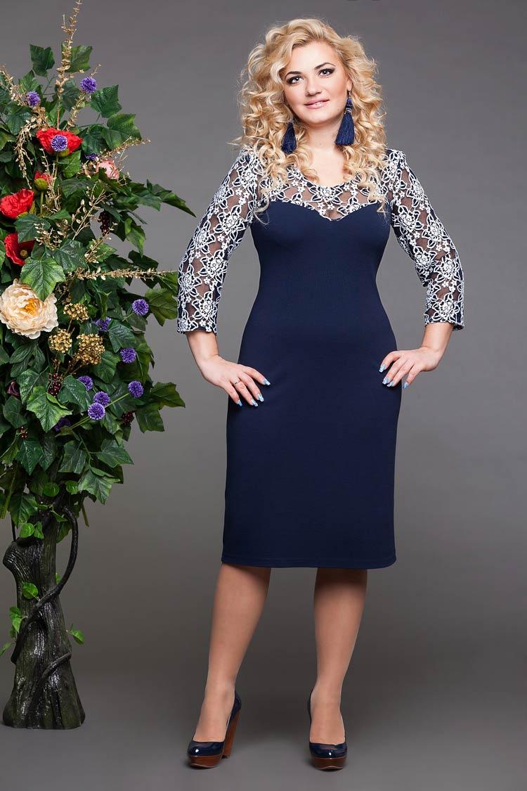 Платье Звезда синий