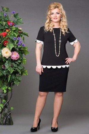 Блуза Бритни черно-белый