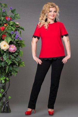 Блуза Бритни красная