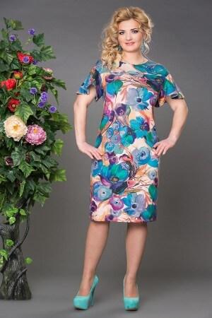 Платье Ева бирюза