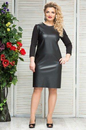 платье-кожа-черный