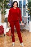 костюм-бархат-бордо