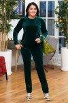 костюм-бархат-зеленый