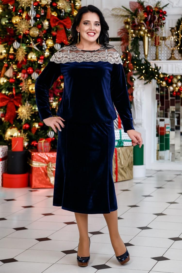 блуза лиана и годе синий