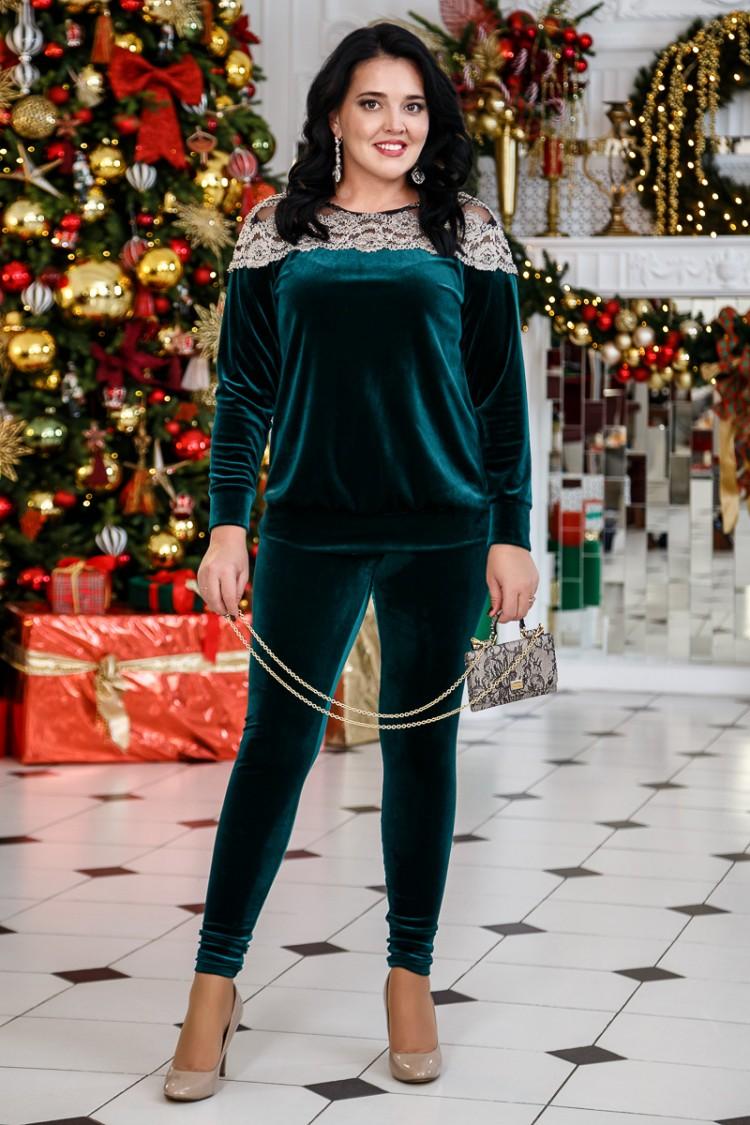 блуза лилиана и лосины зеленый