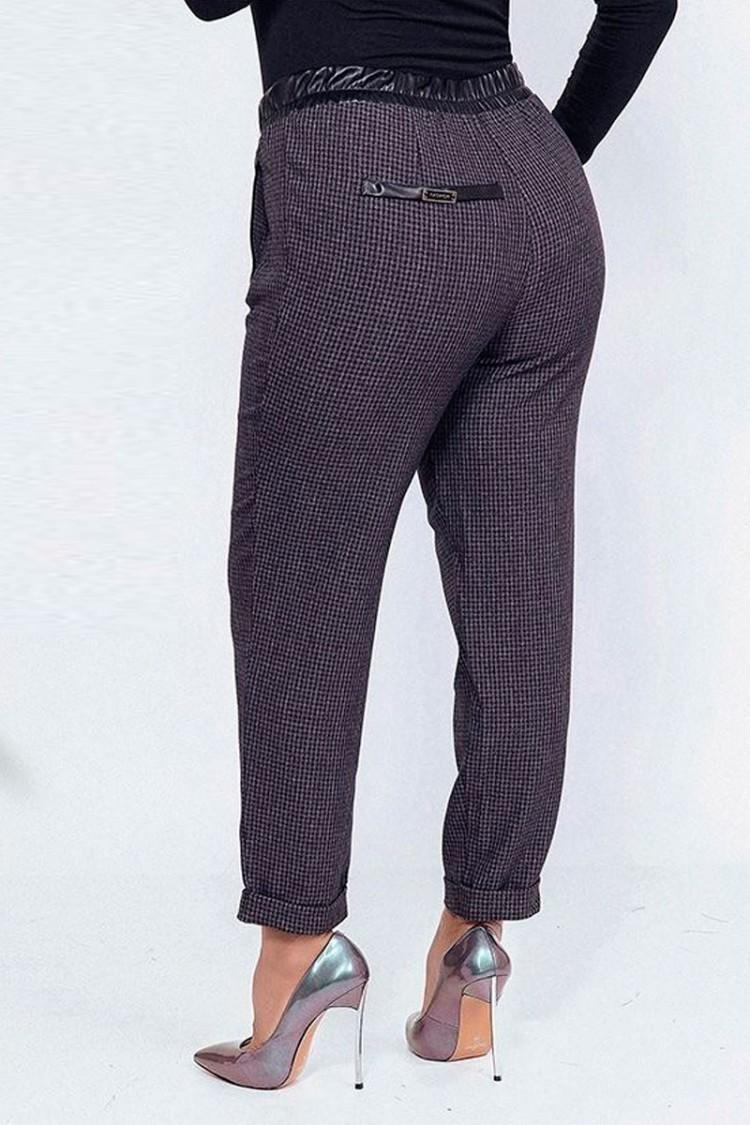 брюки-Клетка-фиолет-сзади