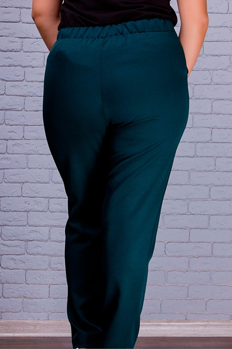 брюки-Лори-бутылочный-сзади