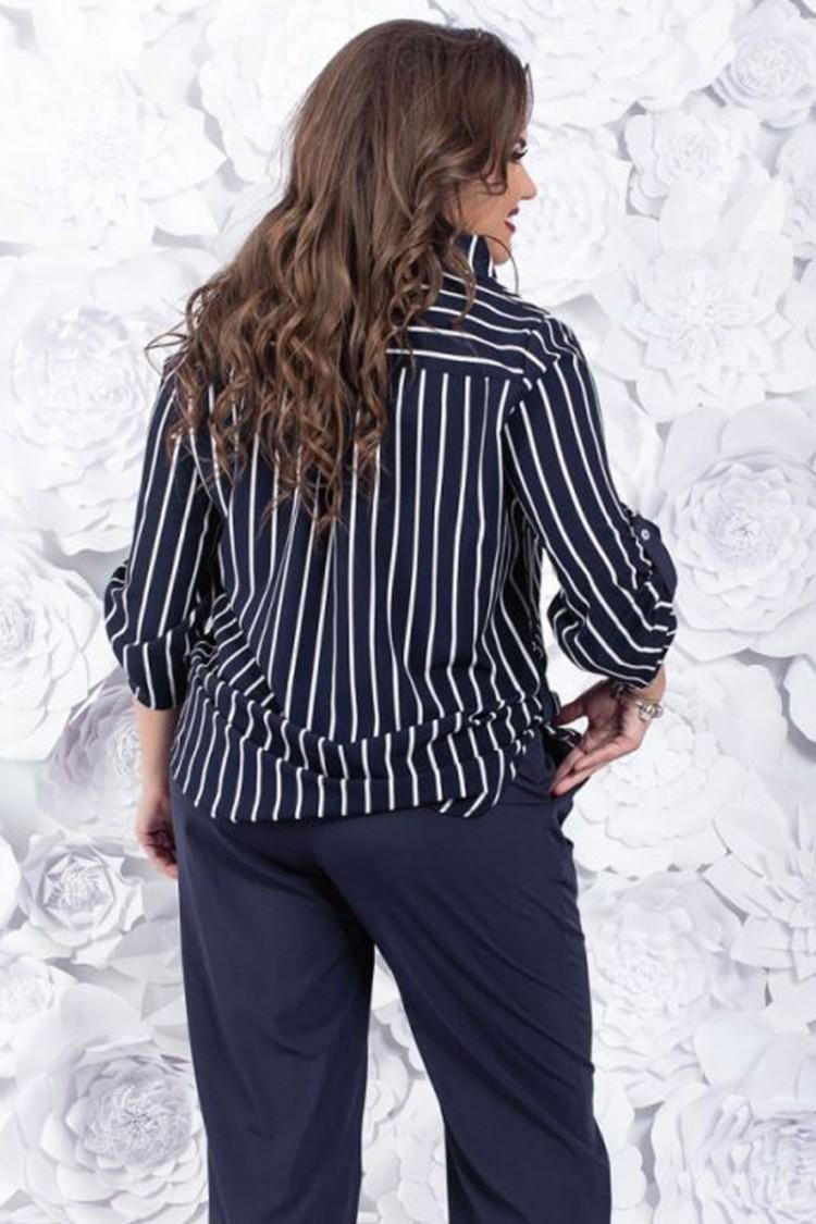 рубашка-полоска-синий-спина
