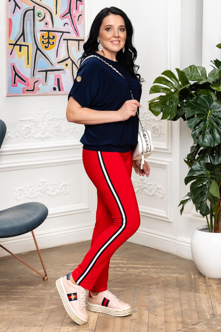 брюки спорт шик красный
