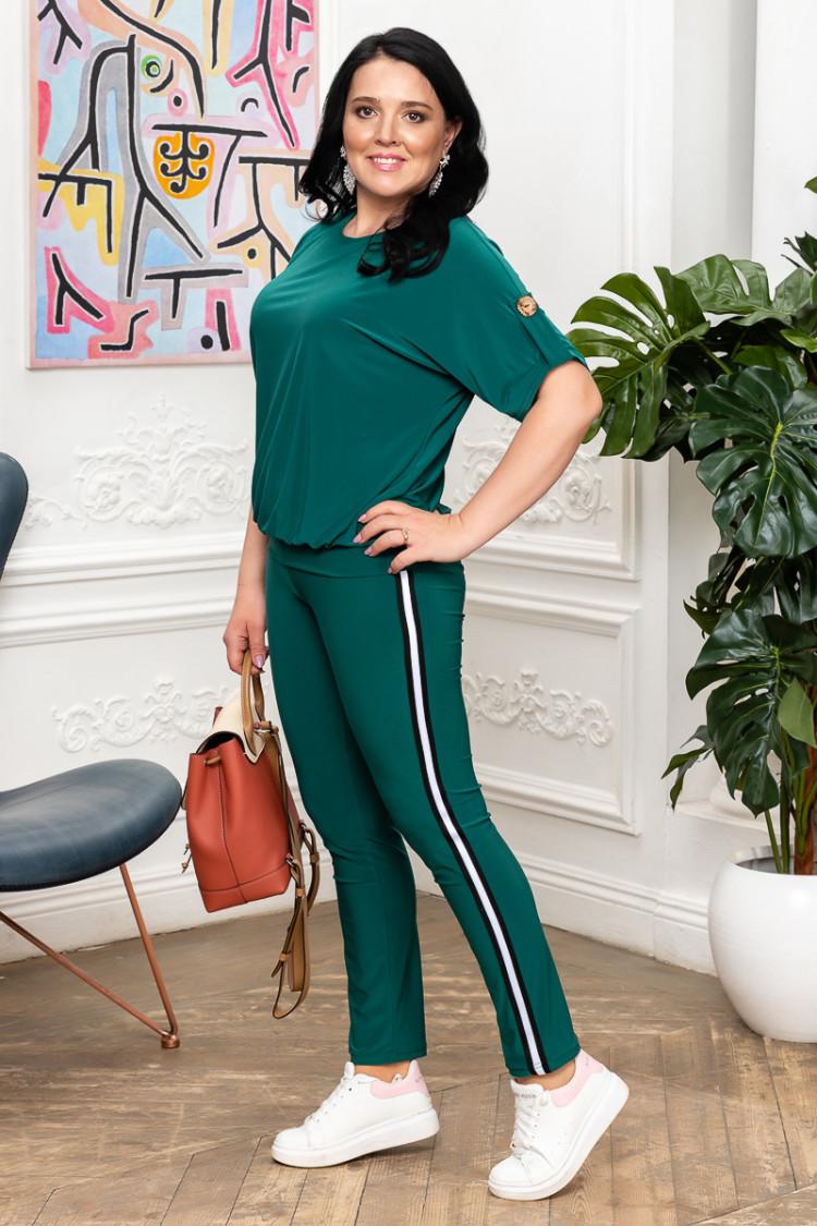 брюки спорт шик зеленый+кэтти