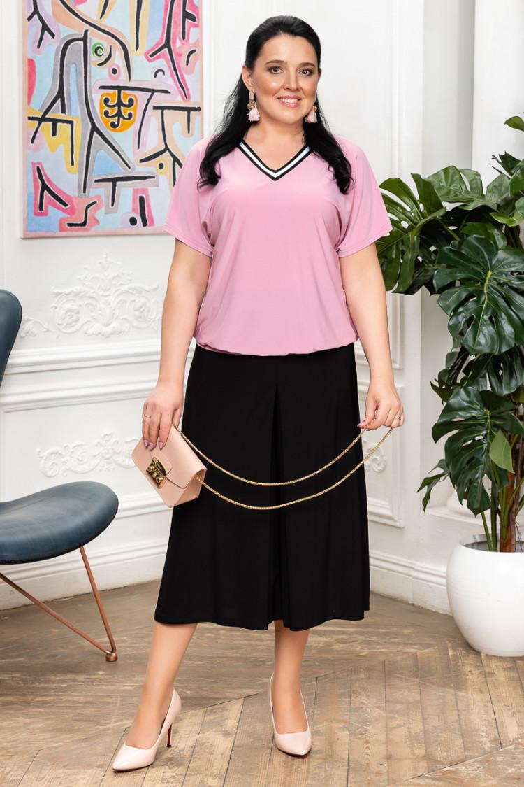волна пудровый+ юбка-брюки